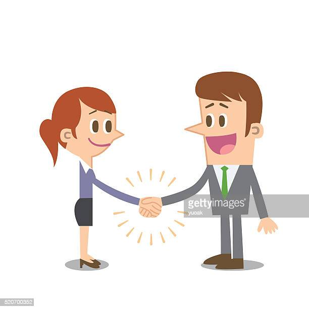 handshake - reconciliation stock illustrations