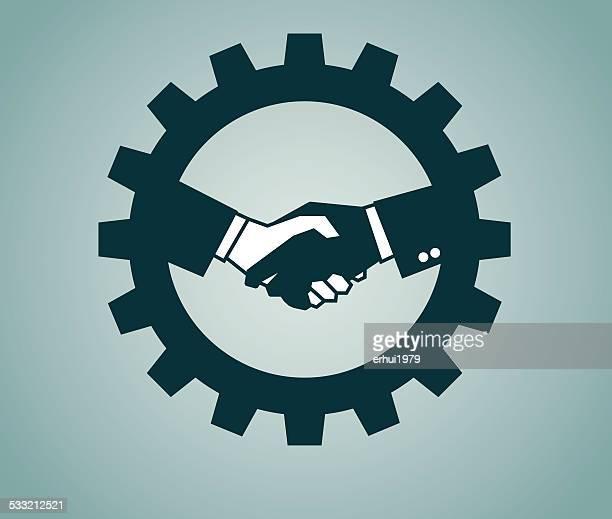 handshake - new hire stock illustrations