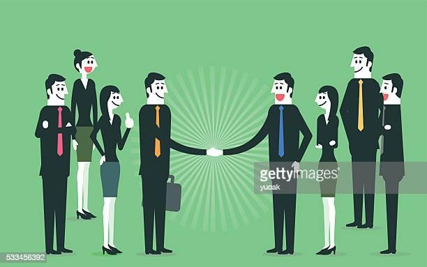 handshake - respect stock illustrations