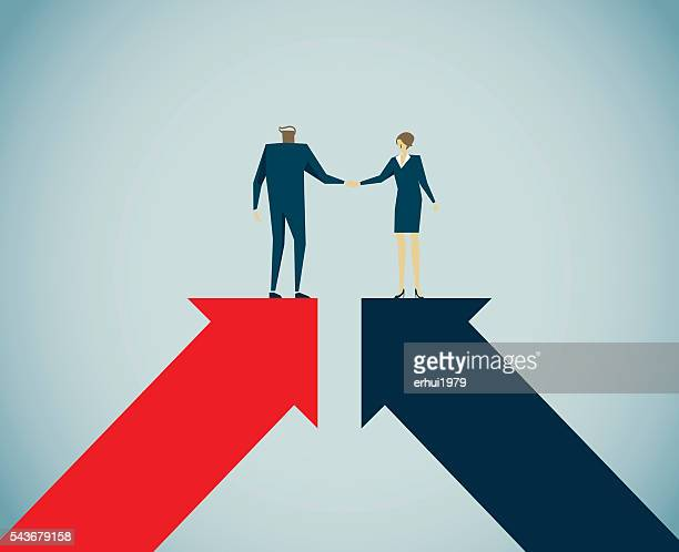 handshake - concepts stock illustrations, clip art, cartoons, & icons