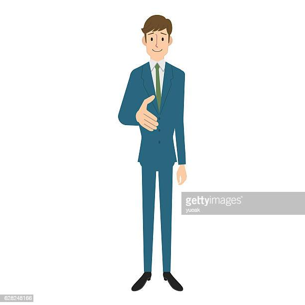 hände schütteln  - full suit stock-grafiken, -clipart, -cartoons und -symbole