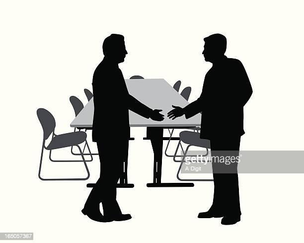Handshake Vector Silhouette