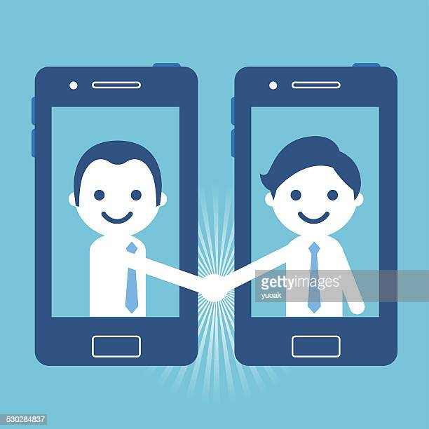 Handshake with smartphone