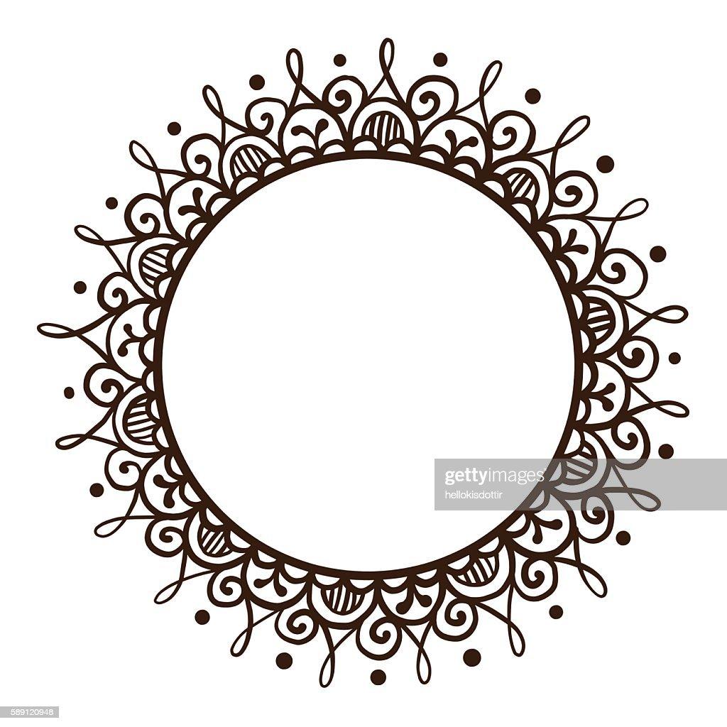 Handsketched mehndi frame