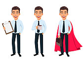 Handsome businessman in office style clothes