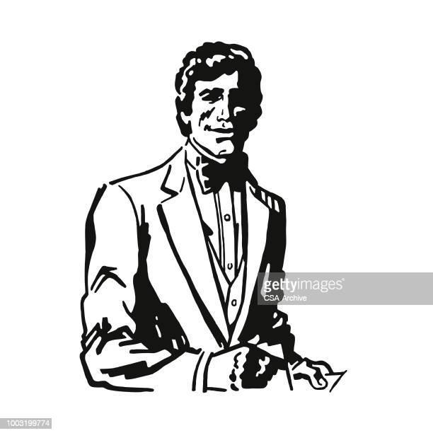 Handsome Man Wearing a Tuxedo