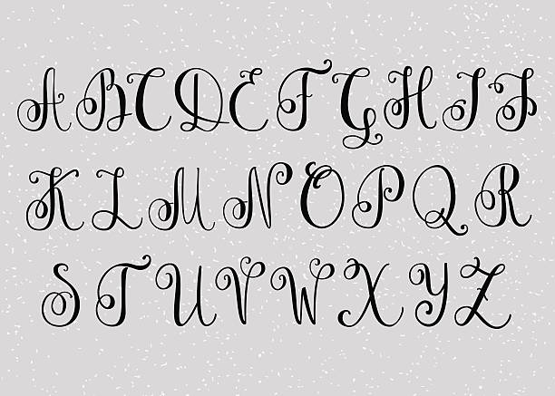 Free calligraphy alphabet Images, Pictures, and Royalty