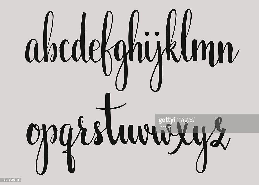 Handwritten brush style calligraphy cursive font