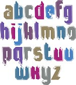 Handwritten contemporary vector lowercase letters, hand-painted