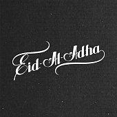 handwritten Eid-Al-Adha retro label