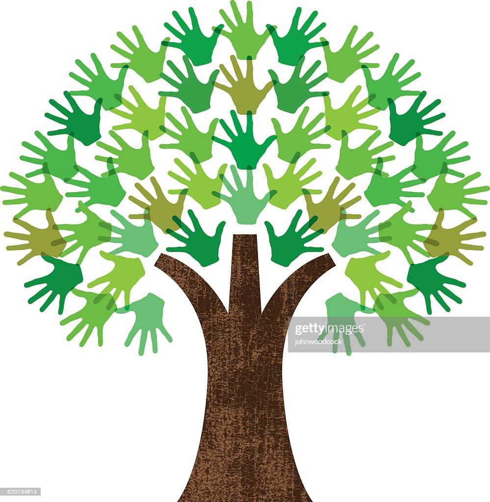 Handy graphic tree : stock illustration