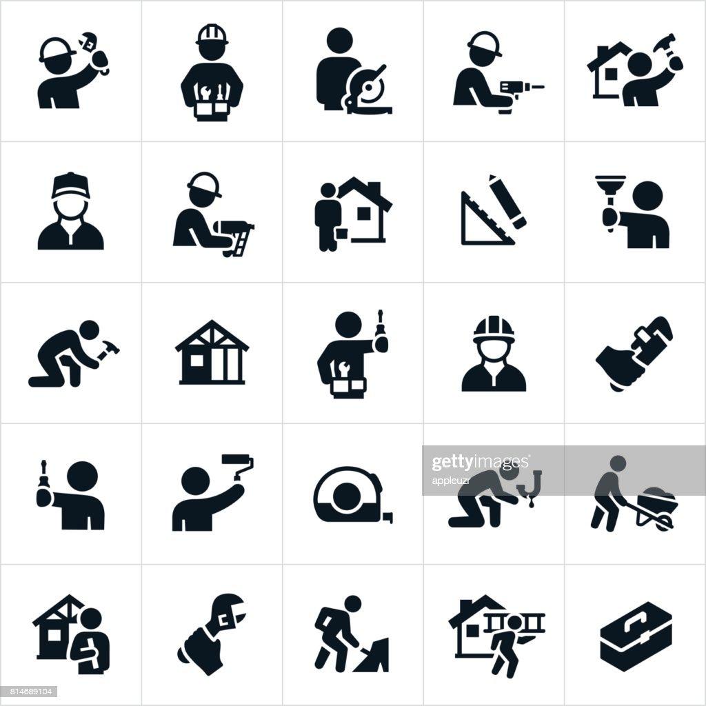 Handyman Icons : stock illustration