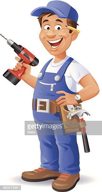 handyman - carpenter stock illustrations