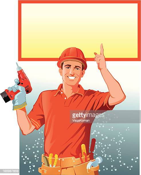 Handyman with Copy Space