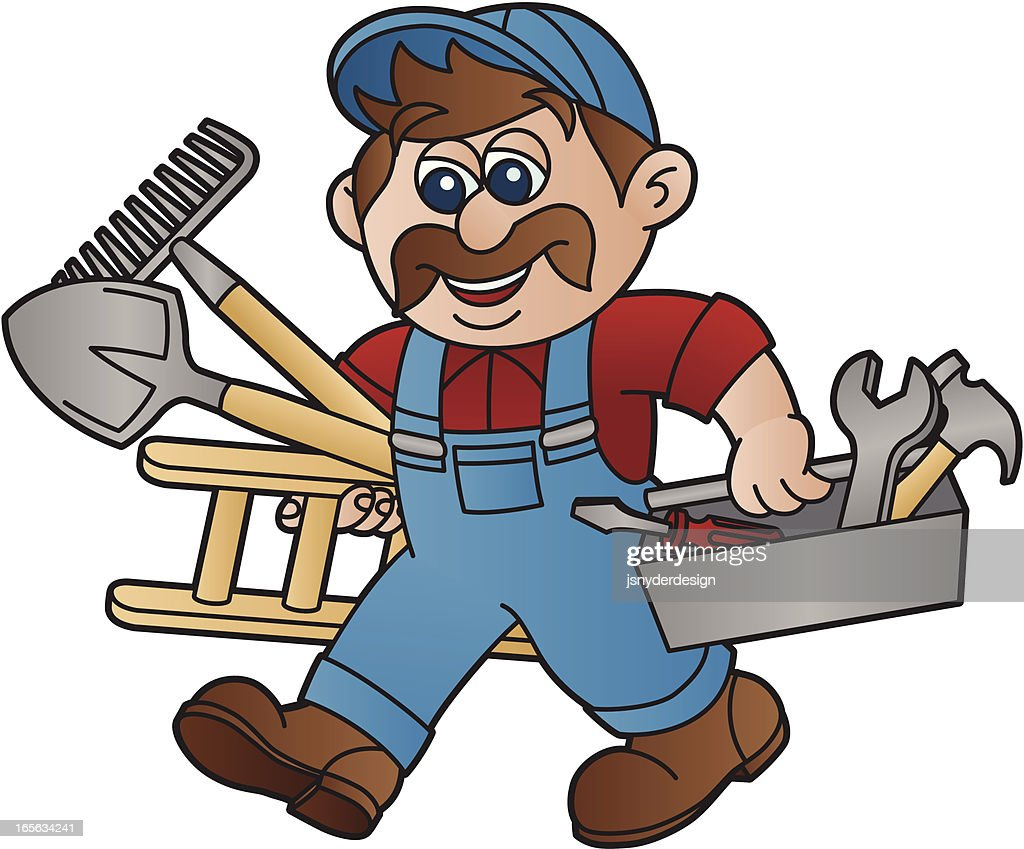 Handyman with Moustache