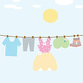 hang dry the clothes