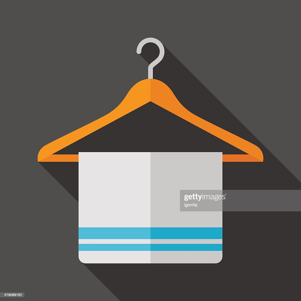 hanger icon with long shadow. flat style vector illustration