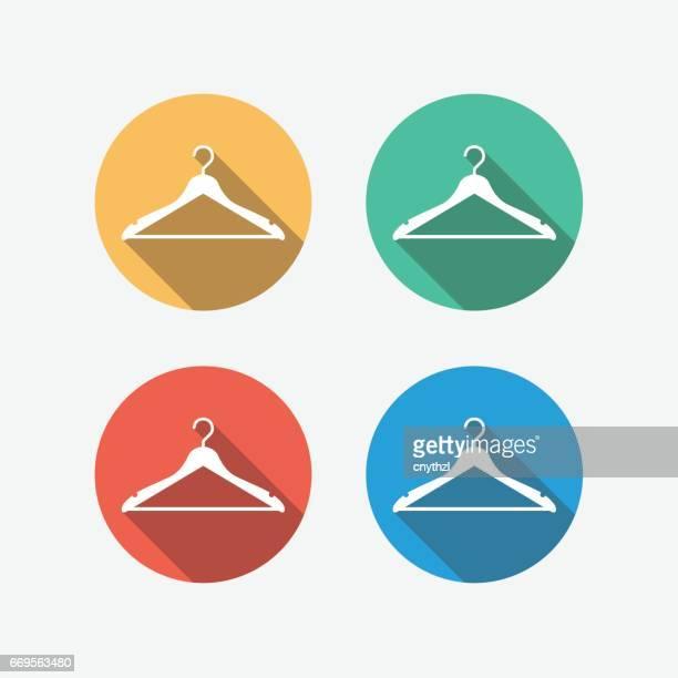 Hanger Multi Colored Circle Flat Icon