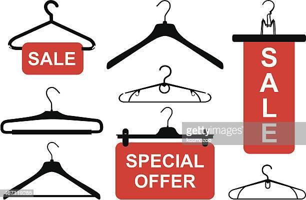 hanger - coathanger stock illustrations
