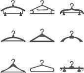 Hangers vector black icons
