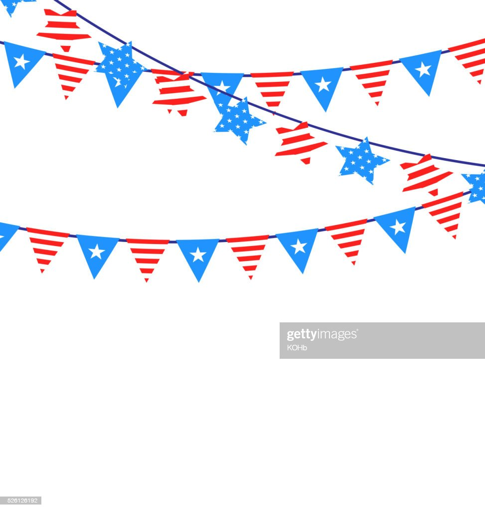Hanging Bunting Garlands American