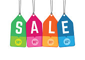 Hanging Colorful Sale Tag, Sticker