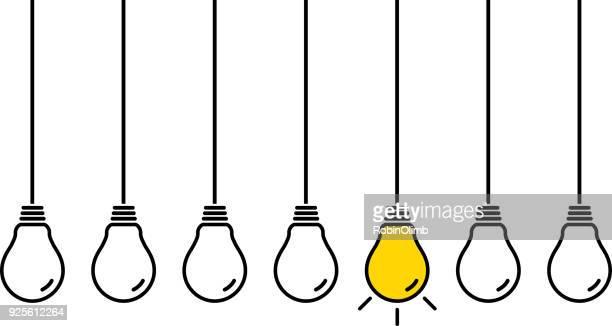 hanging light bulbs - pendant light stock illustrations