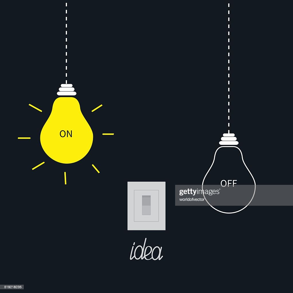 Hanging on and off light bulbs with tumbler switch. Idea