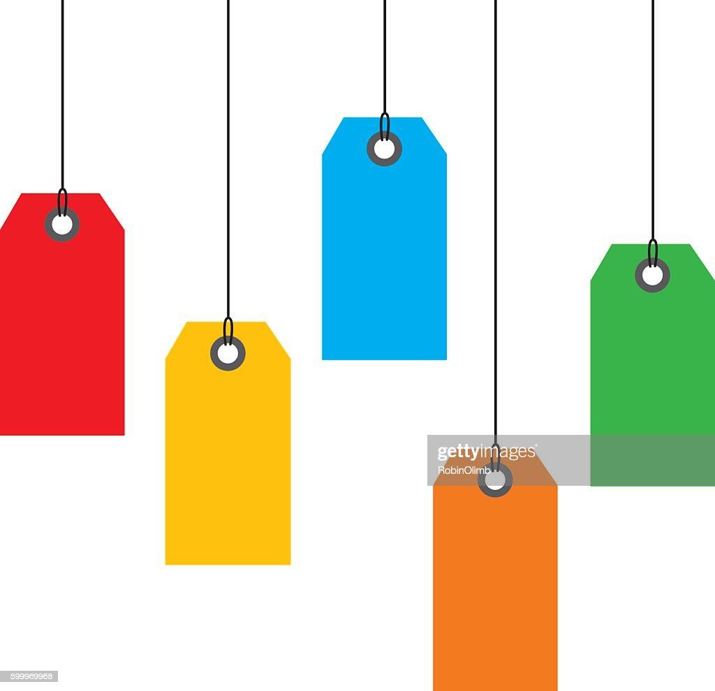 Hanging Sales tags : stock illustration