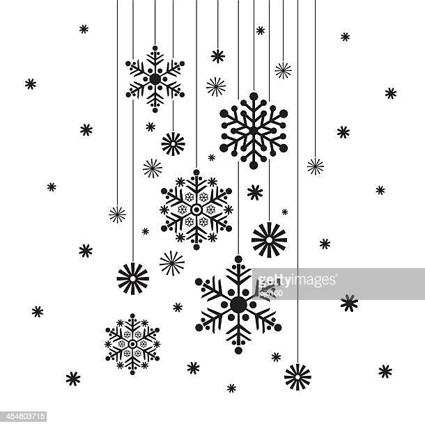 Hanging Snowflake in Silhouette