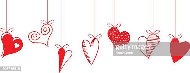 Hanging Valentine Hearts