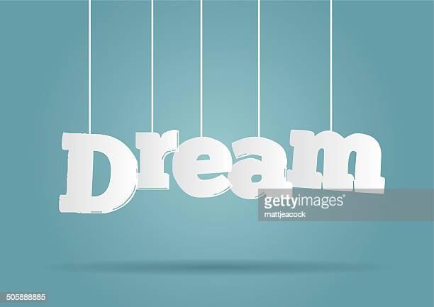 Hanging word Dream