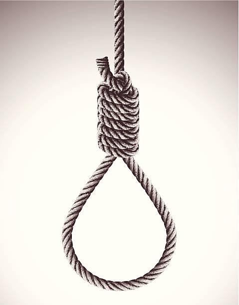 hangman's noose - hanging gallows stock illustrations