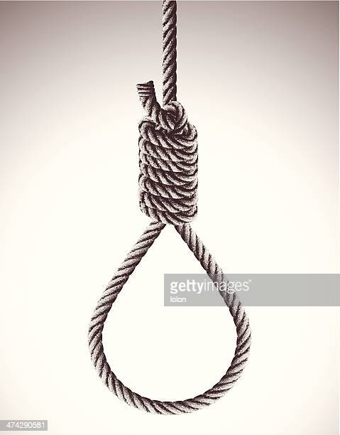 hangman's noose - rope stock illustrations