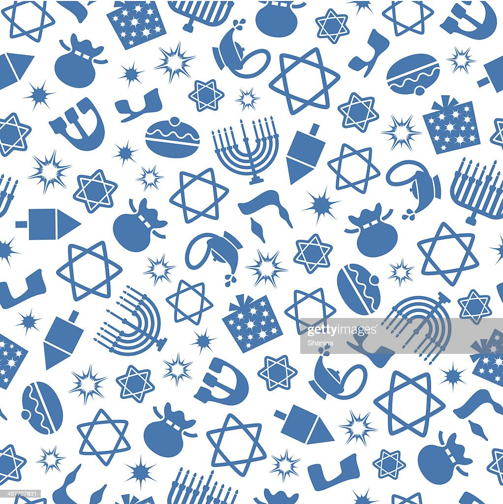Hannukah - One Color Seamless Pattern : stock illustration