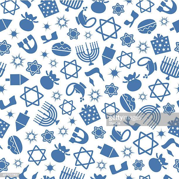 Hannukah - One Color Seamless Pattern