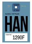 hanoi airport luggage tag