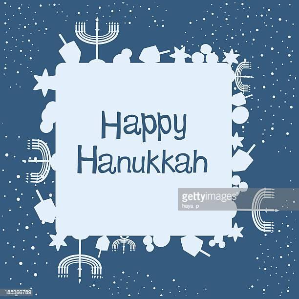hanukkah background and text - hanukkah stock illustrations, clip art, cartoons, & icons