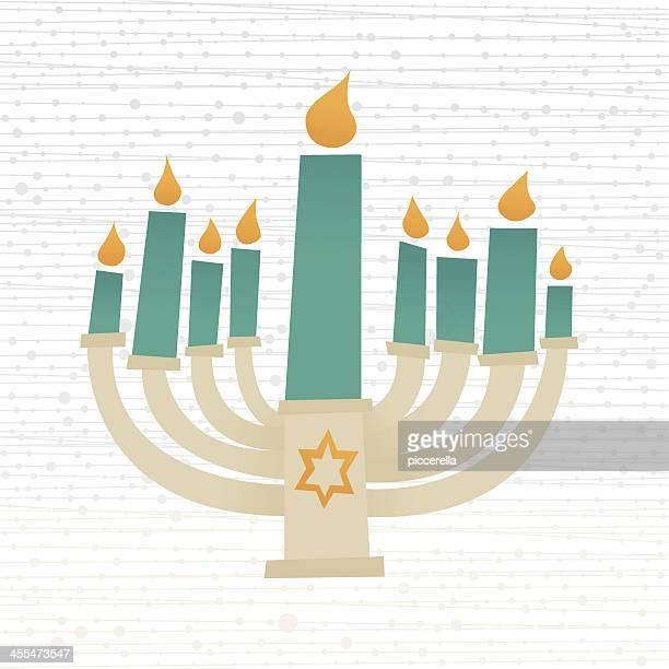 hanukkah candelabrum - hanukkah stock illustrations, clip art, cartoons, & icons