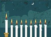 Hanukkah Candlestick and Jerusalem