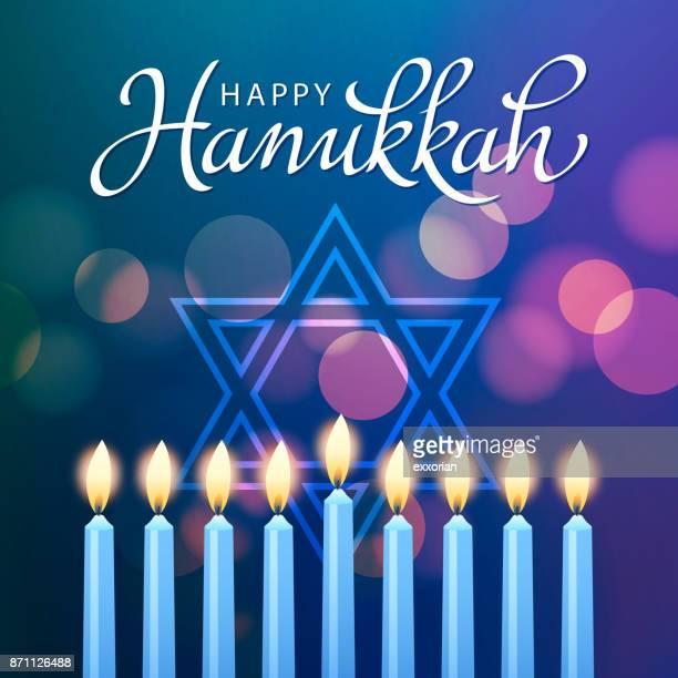 hanukkah festival of light - hanukkah stock illustrations, clip art, cartoons, & icons