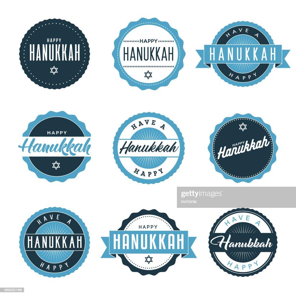 Hanukkah Icon Set : Stock Illustration