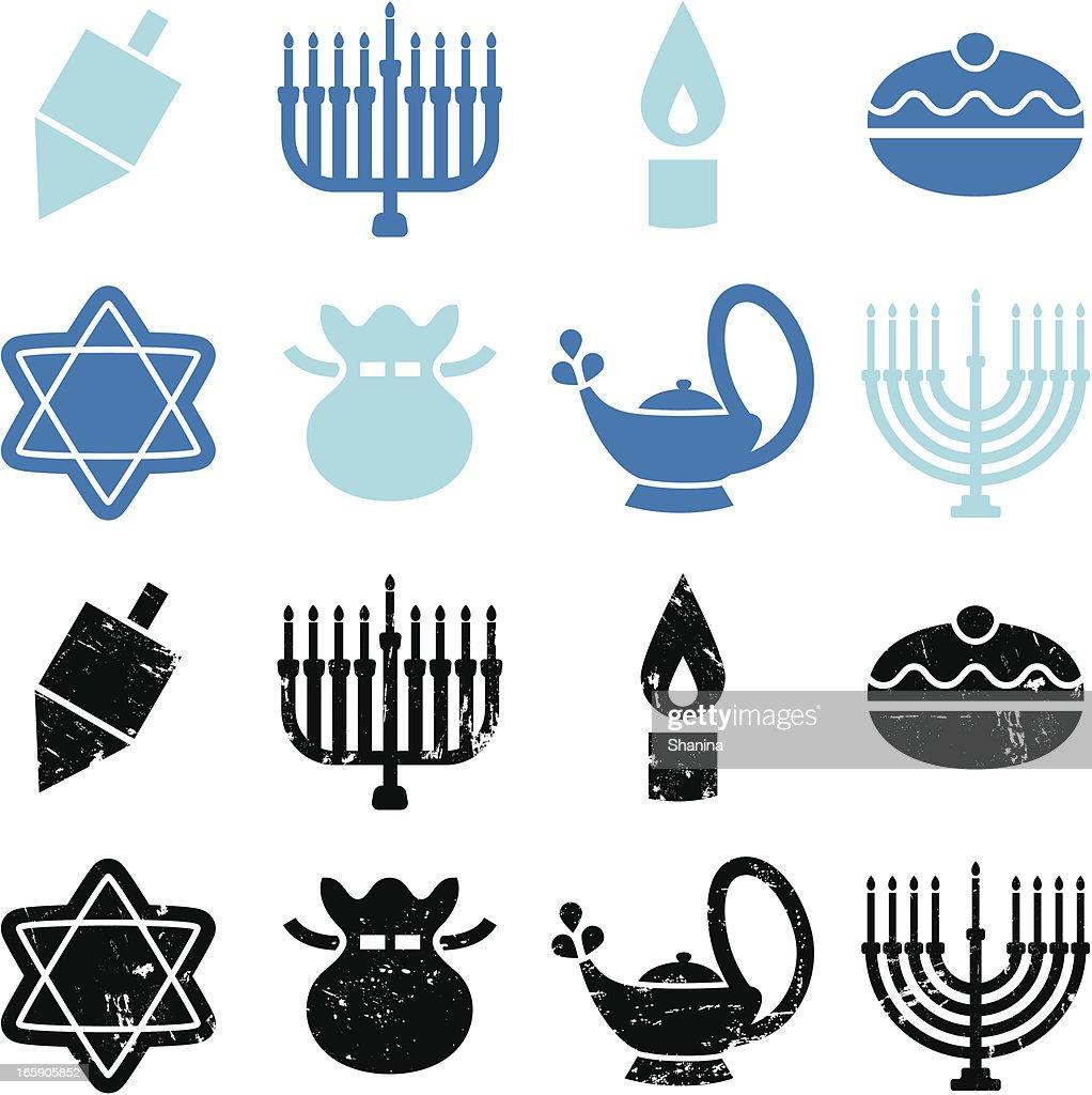 Hanukkah Icons : stock illustration