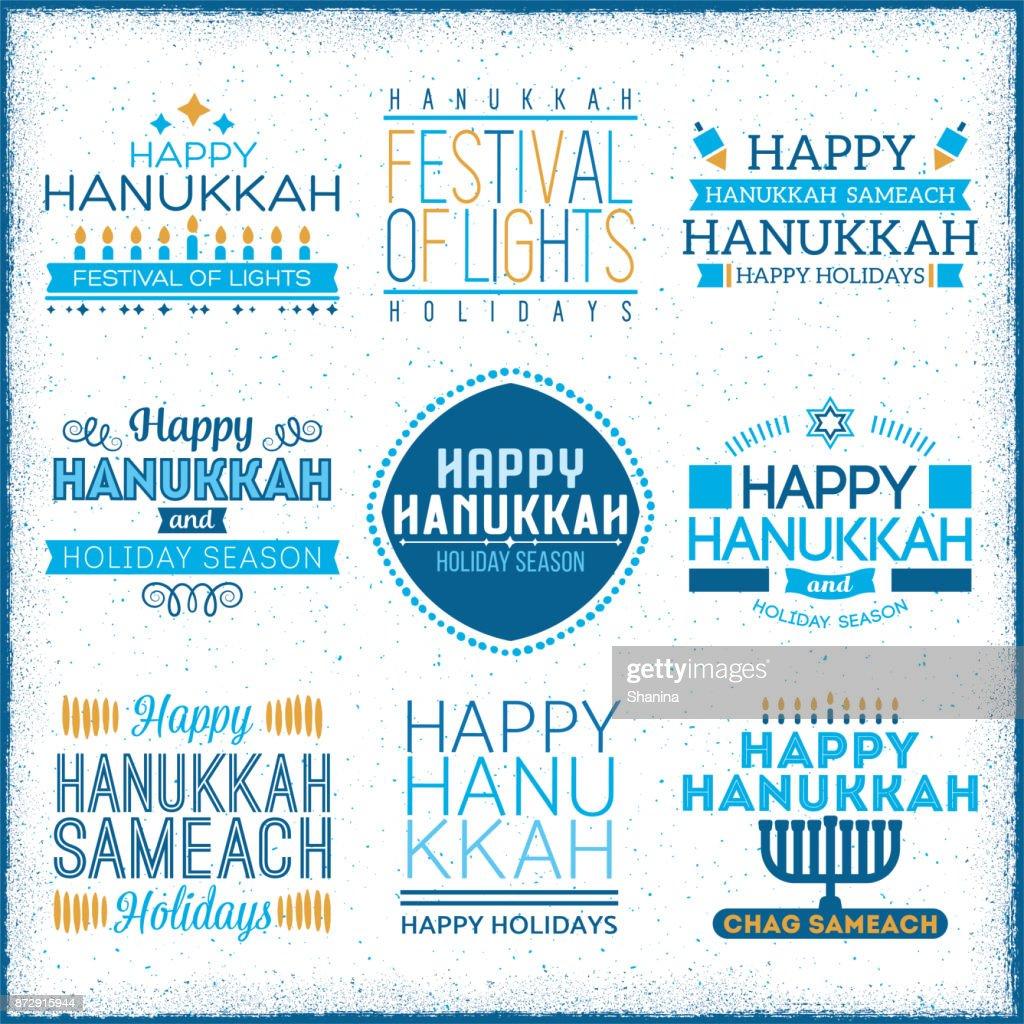 Hanukkah Label Greetings : stock illustration