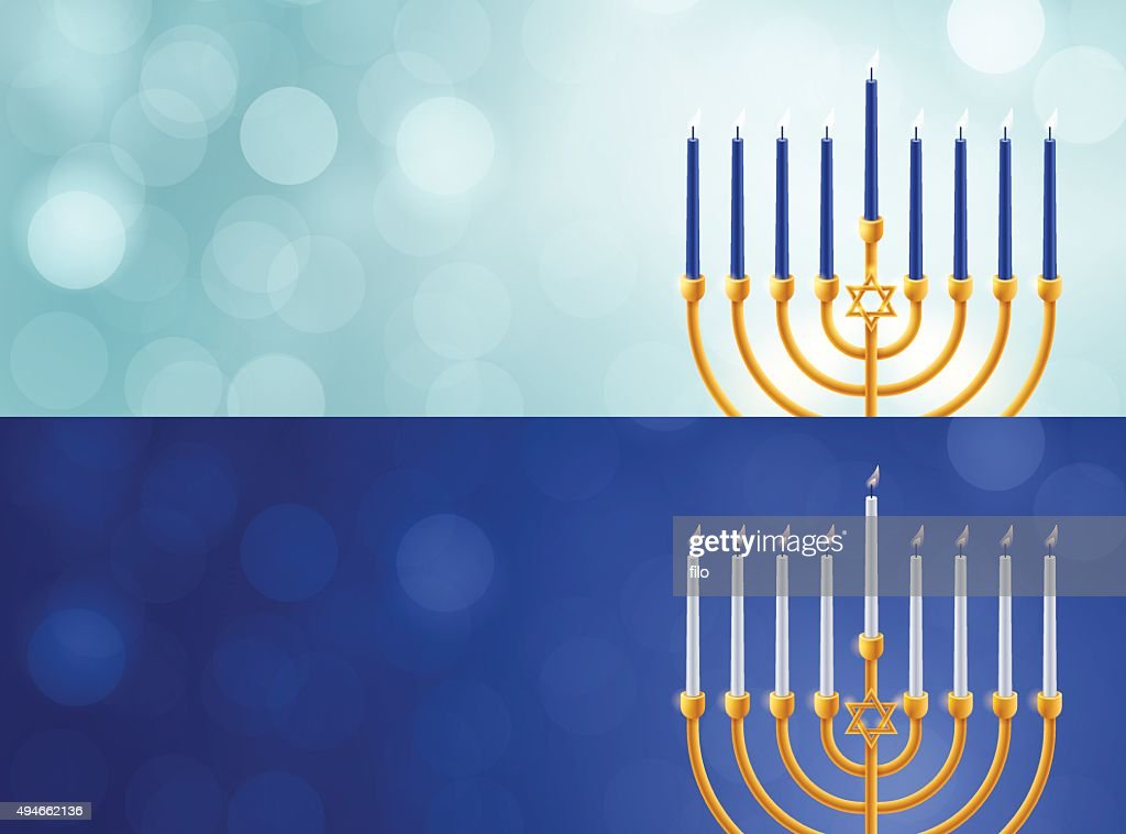 Hanukkah Menorah Backgrounds : stock illustration