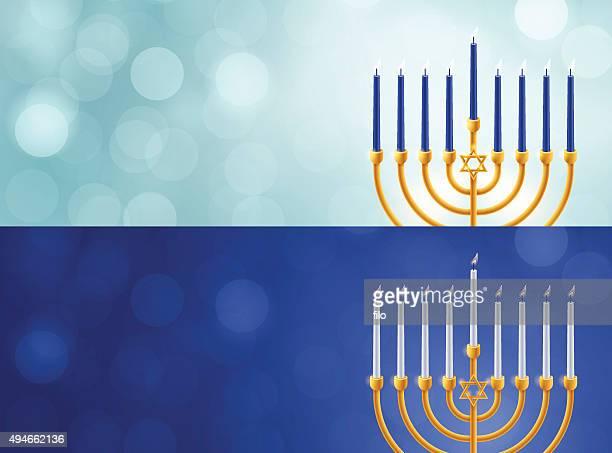 hanukkah menorah backgrounds - hanukkah stock illustrations, clip art, cartoons, & icons