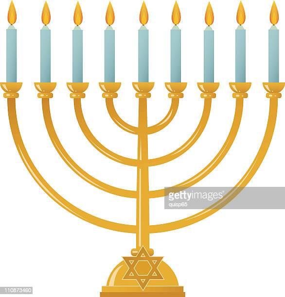 bildbanksillustrationer, clip art samt tecknat material och ikoner med hanukkah menorah - menorah