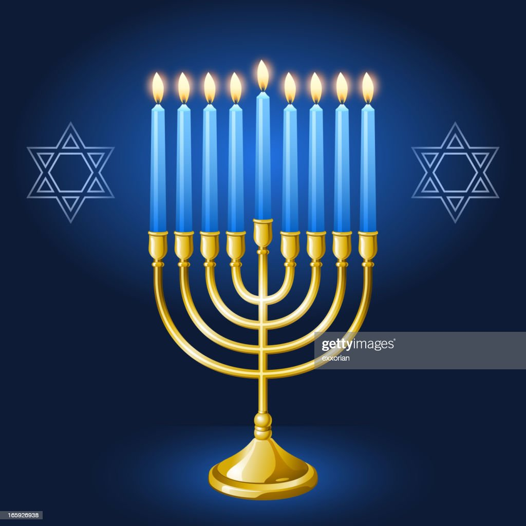 Hanukkah Menorah : stock illustration