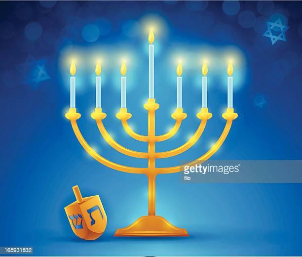 hanukkah menorah - hanukkah stock illustrations, clip art, cartoons, & icons