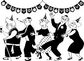 Hanukkah party clip-art